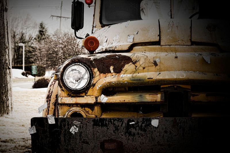 Old Trucks have Character: Scrap-iron Snapshot