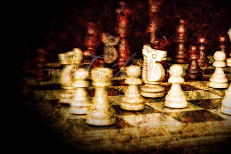 Painterly Chess: A Lensbaby Creation