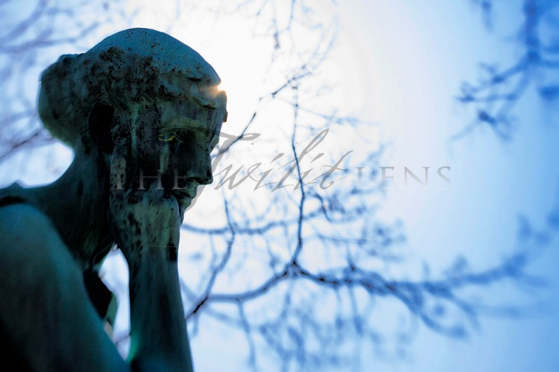 Thinking Statue - A Lensbaby Creation
