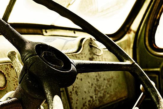 Aged Steering Wheel