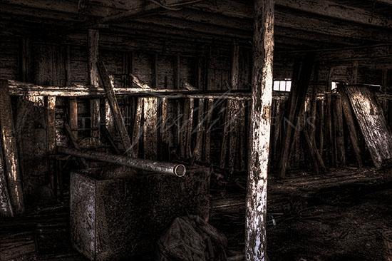 Ruined Barn Interior