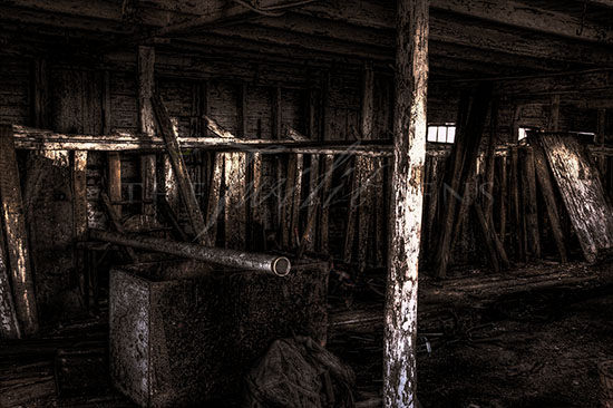 Ruined Barn Interior