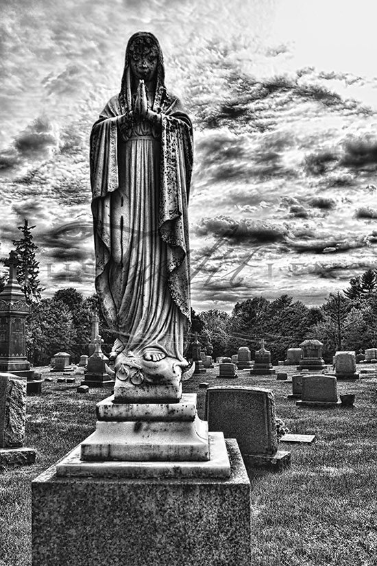 Prayer for the Dead - Cemetery Photograph