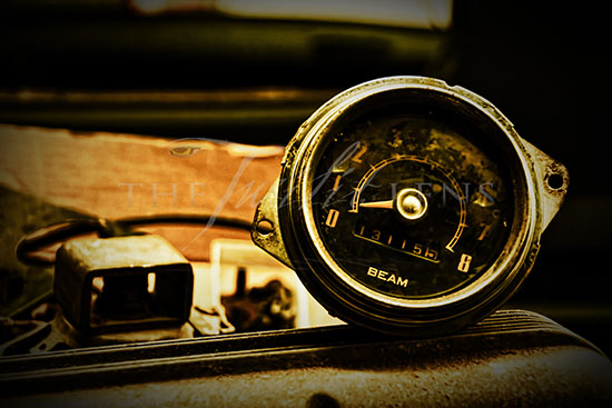 photograph of tachometer