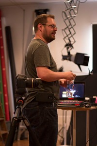 Photograph of me teaching at Exposure Saratoga